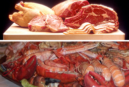 Seafood and lean meats